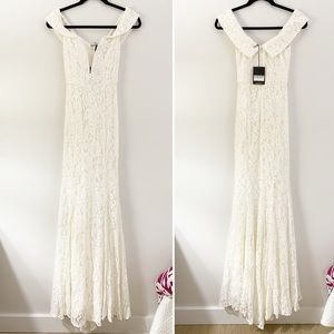 Reformation Dresses - Reformation Mykonos Dress Ivory Lace NWT Size 0